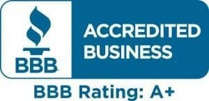 Better Business Bureau accredited rating A+