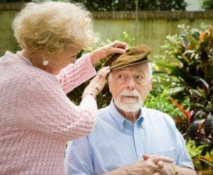 Loving wife with elderly husband with Alzheimer's need Alzheimer's & Dementia Asset Protection Planning