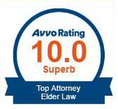 Attorney James C. Siebert rating Avvo Top Attorney 10 out of 10 Superb Elder Law