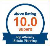Attorney James C. Siebert rating Avvo Top Attorney 10 out of 10 Superb Estate Planning