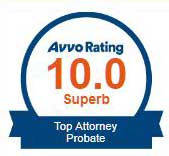 Attorney James C. Siebert rating Avvo Top Attorney 10 out of 10 Superb Probate