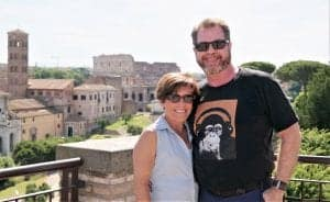 James & Culleen in Rome